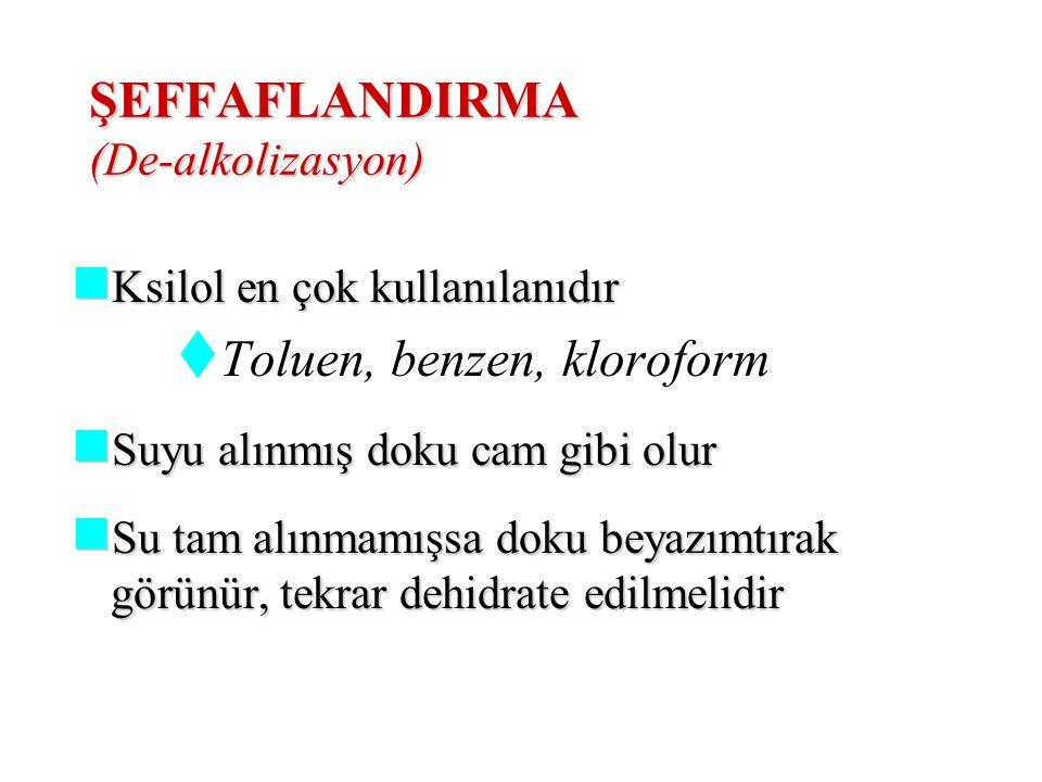 ŞEFFAFLANDIRMA (De-alkolizasyon)