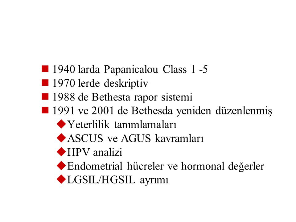 1940 larda Papanicalou Class 1 -5