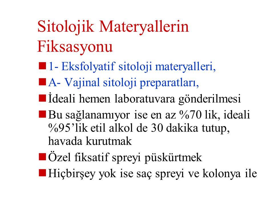 Sitolojik Materyallerin Fiksasyonu