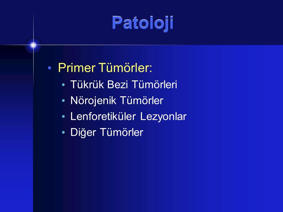 Patoloji Primer Tümörler: Tükrük Bezi Tümörleri Nörojenik Tümörler