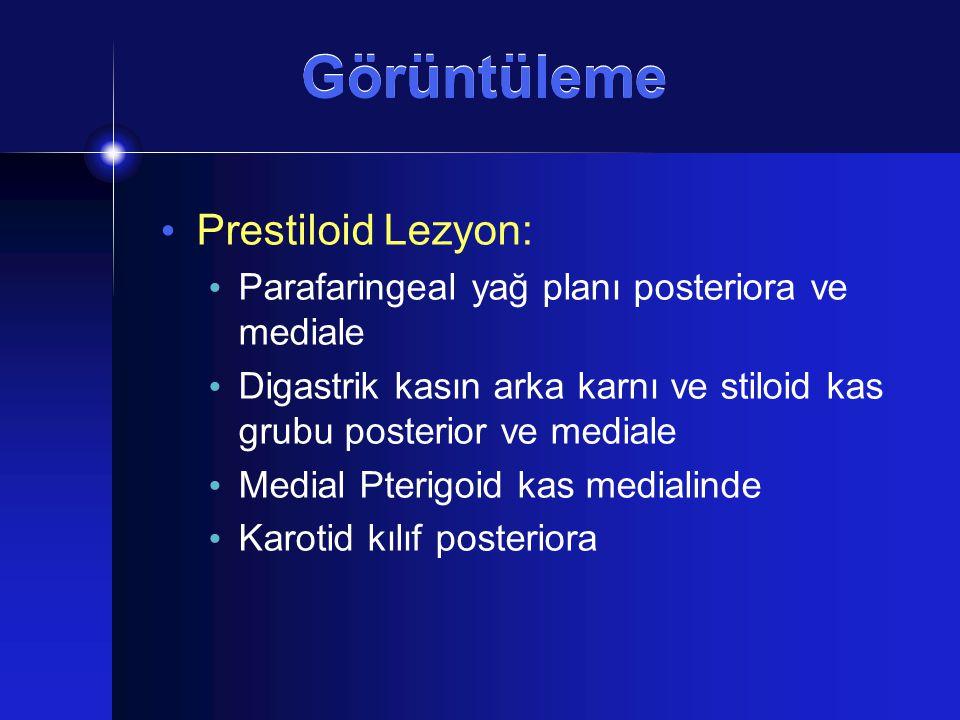 Görüntüleme Prestiloid Lezyon: