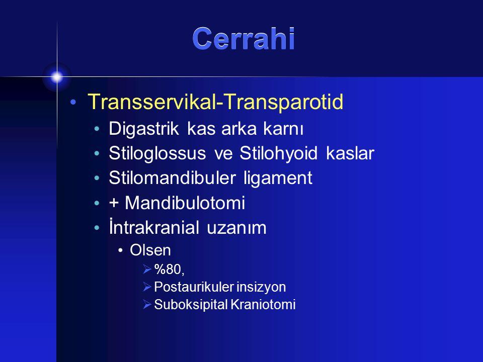 Cerrahi Transservikal-Transparotid Digastrik kas arka karnı