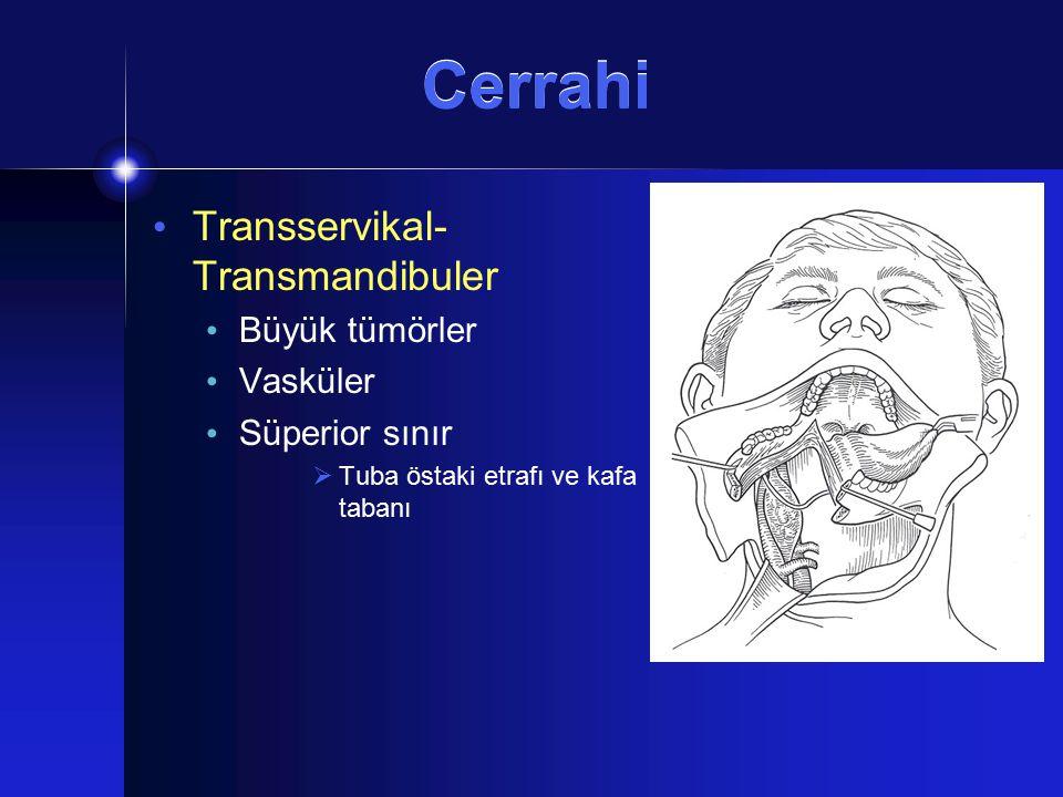 Cerrahi Transservikal-Transmandibuler Büyük tümörler Vasküler