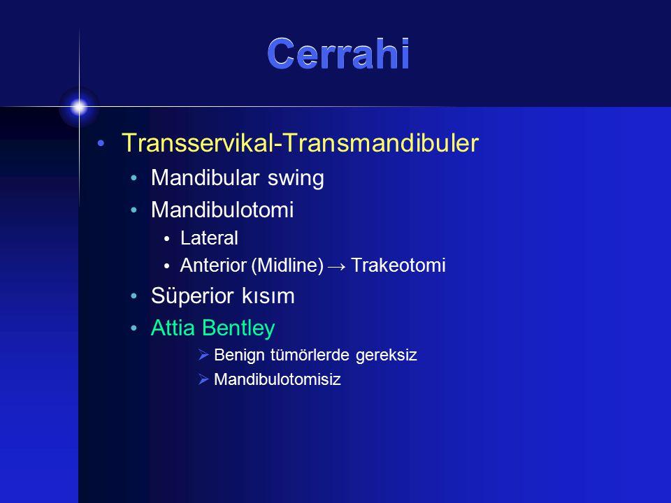 Cerrahi Transservikal-Transmandibuler Mandibular swing Mandibulotomi