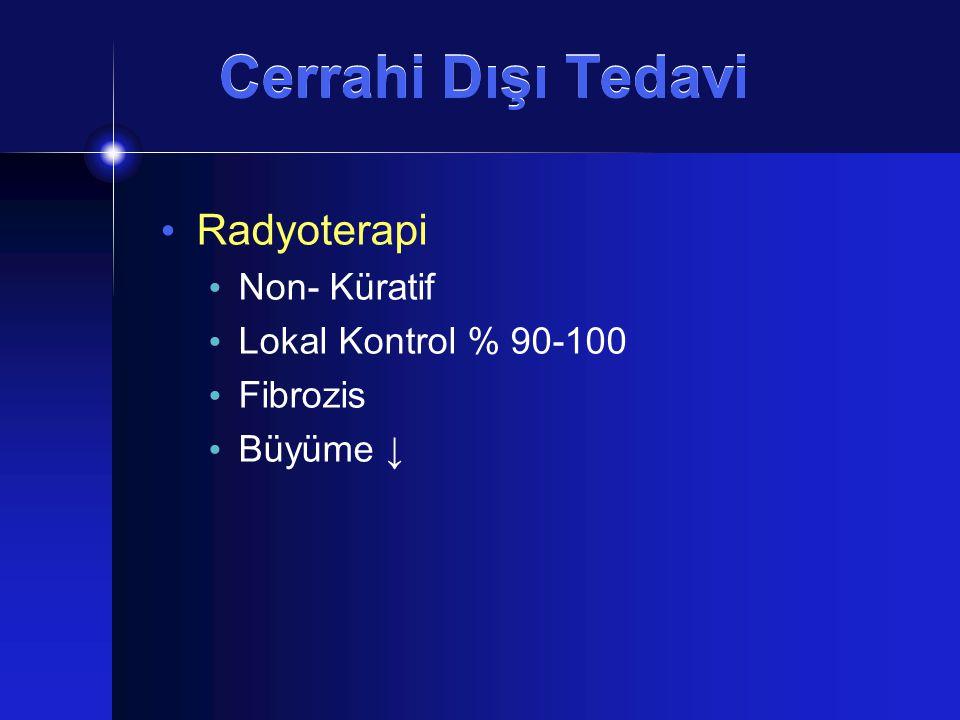 Cerrahi Dışı Tedavi Radyoterapi Non- Küratif Lokal Kontrol % 90-100