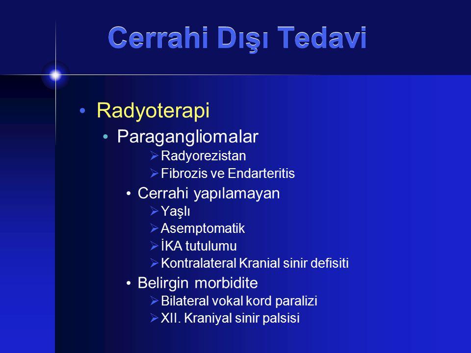 Cerrahi Dışı Tedavi Radyoterapi Paragangliomalar Cerrahi yapılamayan