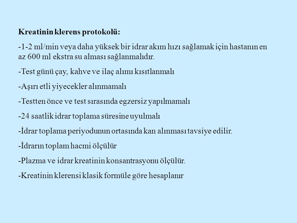 Kreatinin klerens protokolü: