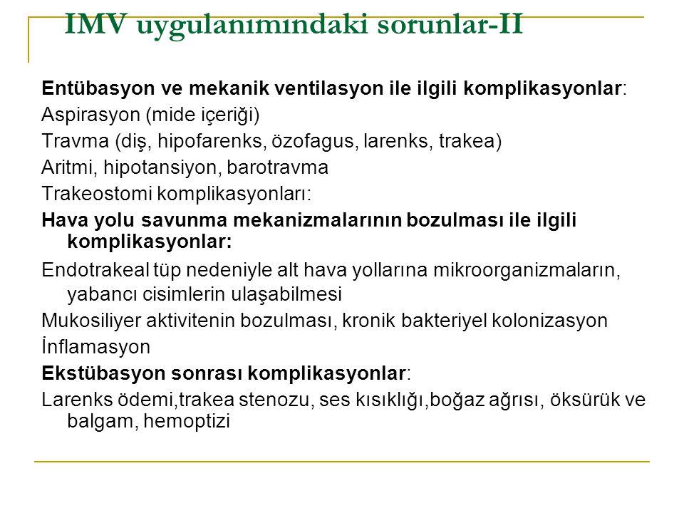 IMV uygulanımındaki sorunlar-II