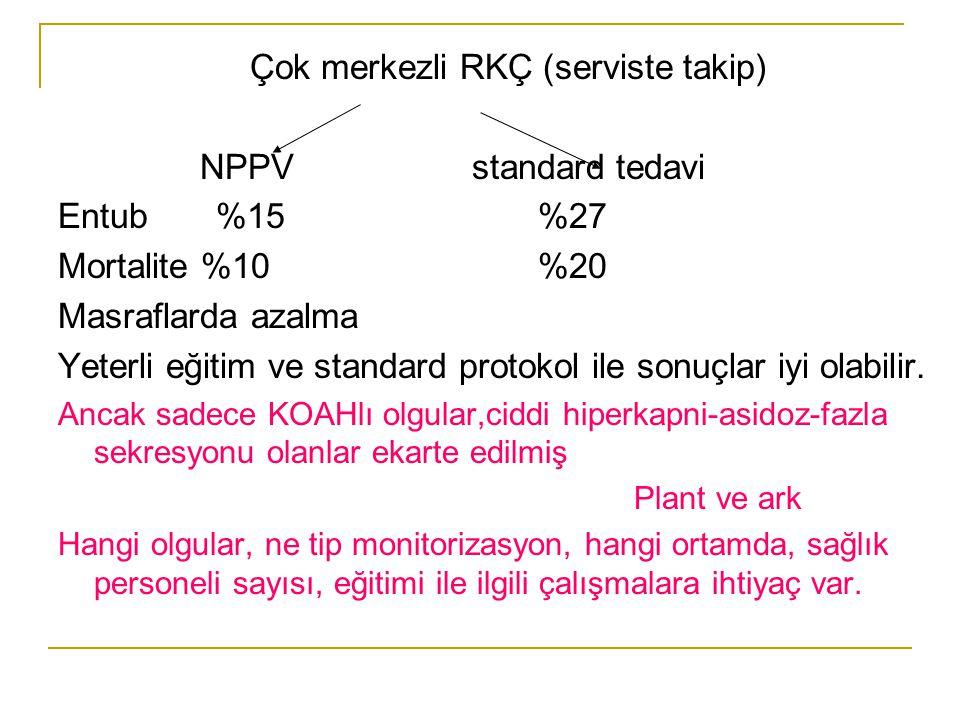 Çok merkezli RKÇ (serviste takip) NPPV standard tedavi Entub %15 %27