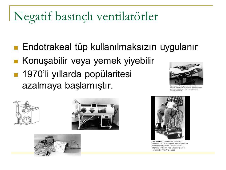 Negatif basınçlı ventilatörler