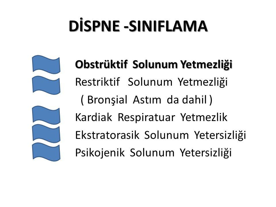 DİSPNE -SINIFLAMA