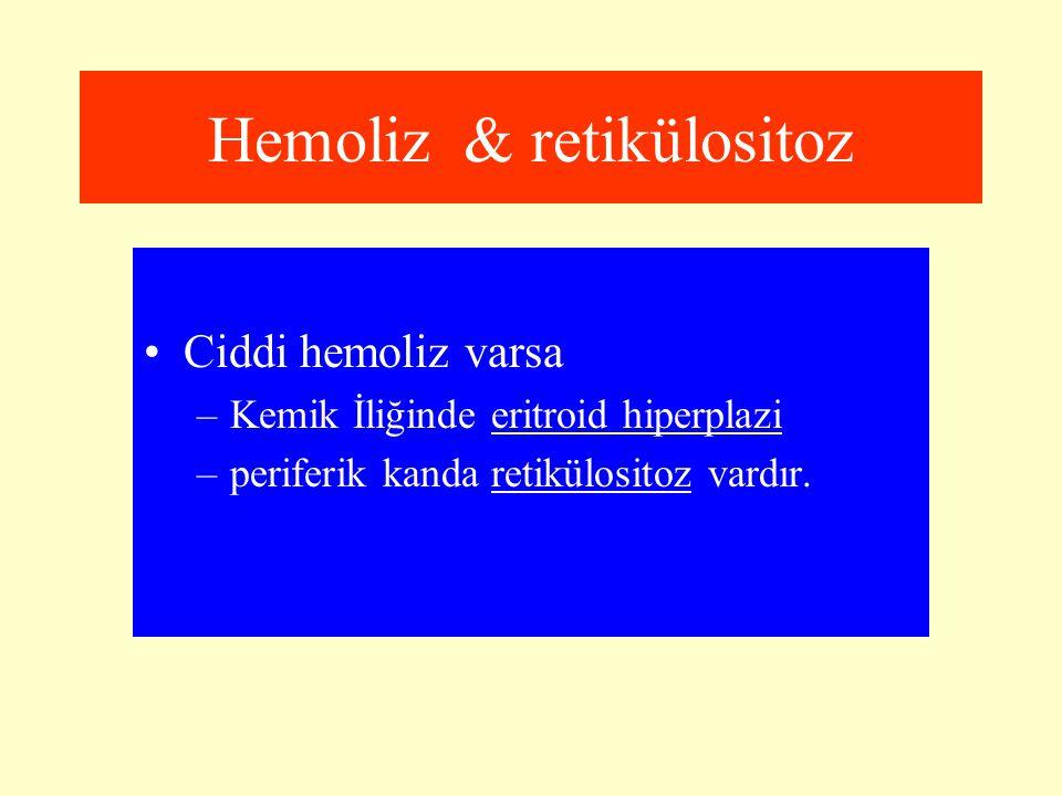 Hemoliz & retikülositoz