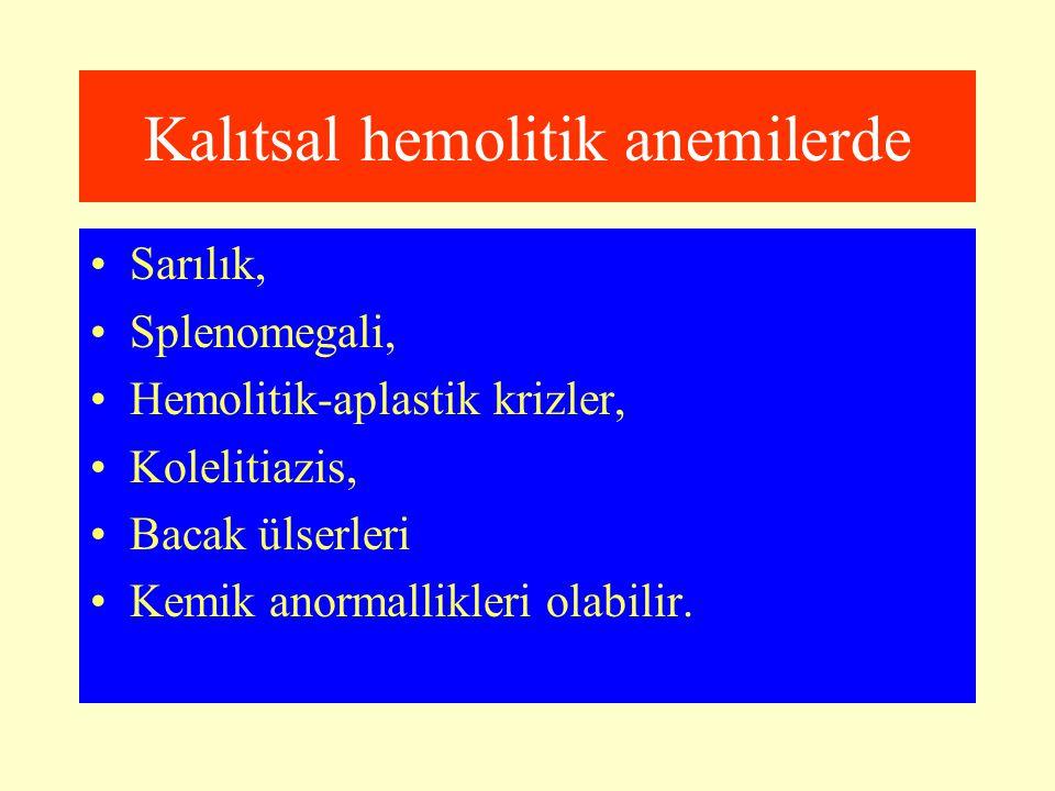 Kalıtsal hemolitik anemilerde