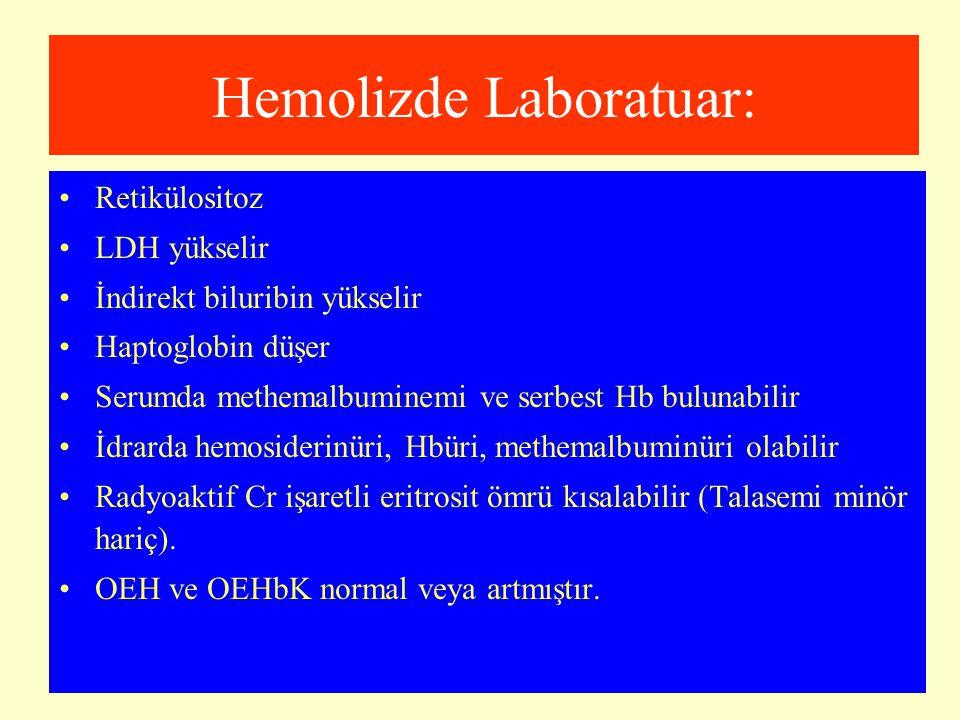 Hemolizde Laboratuar: