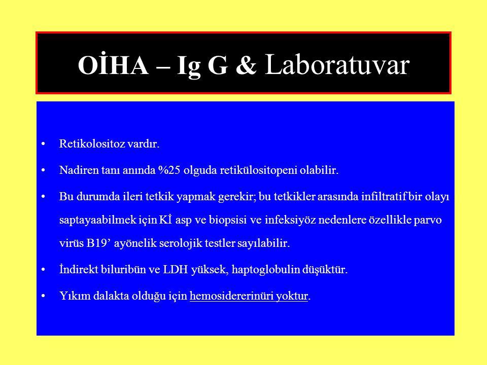 OİHA – Ig G & Laboratuvar