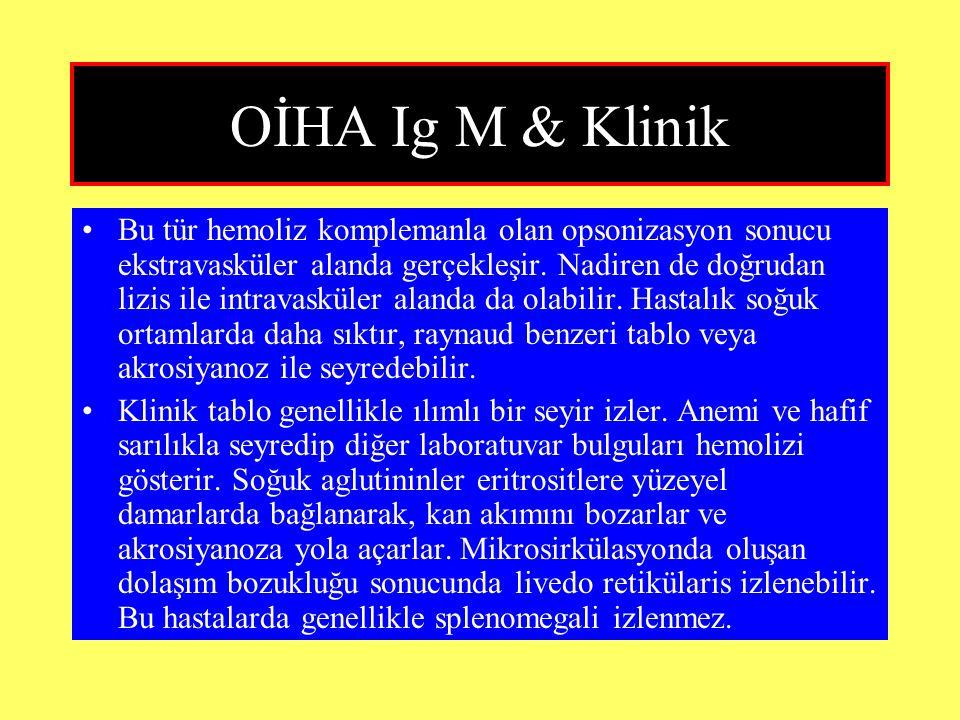 OİHA Ig M & Klinik