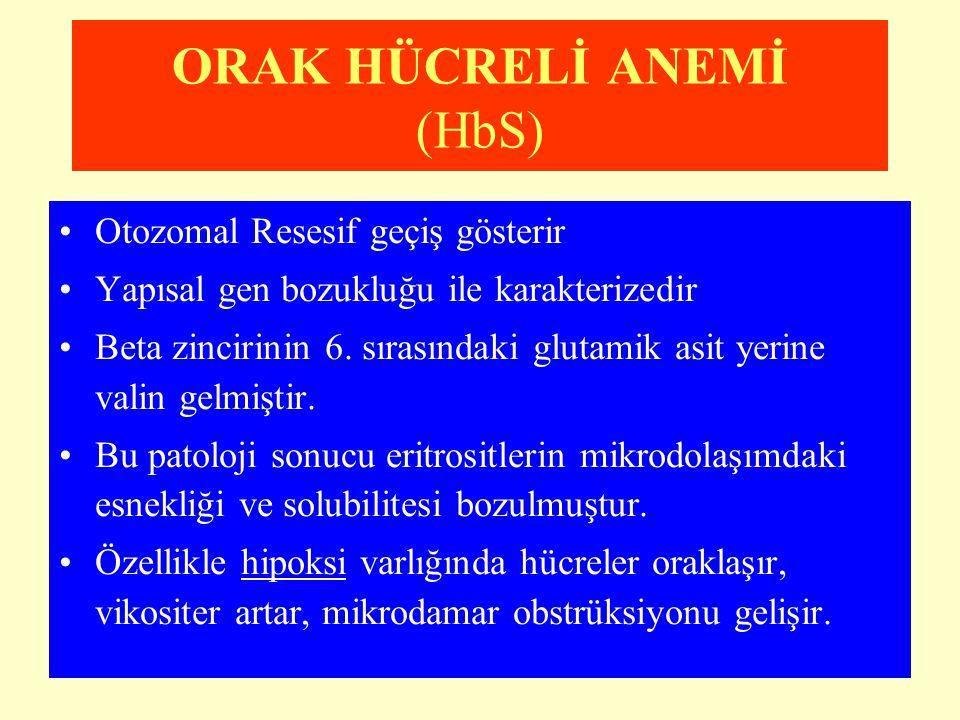 ORAK HÜCRELİ ANEMİ (HbS)
