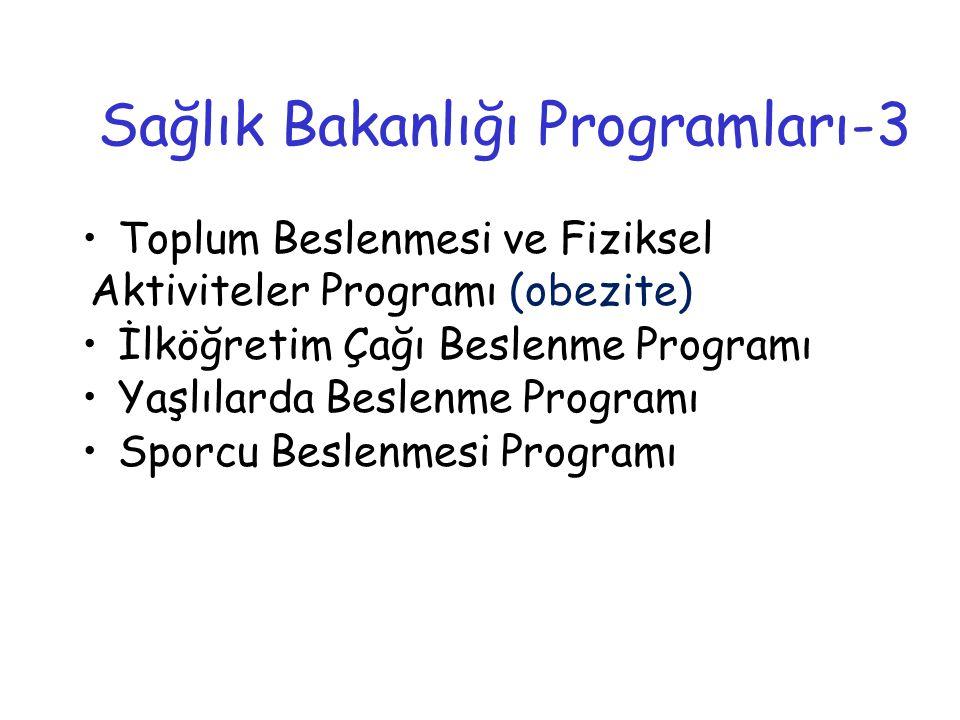 Sağlık Bakanlığı Programları-3