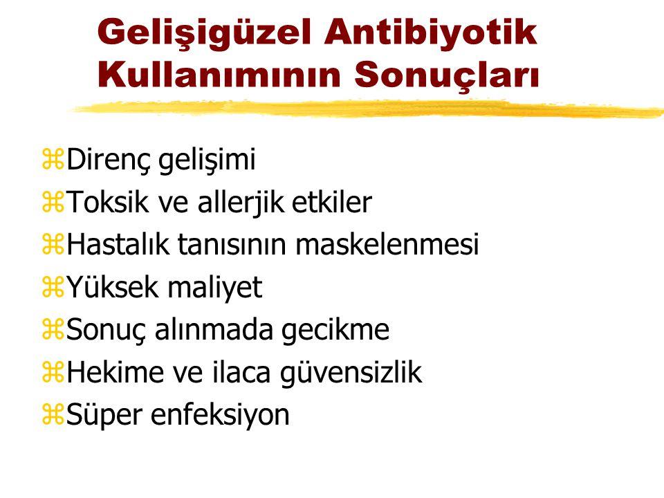 Gelişigüzel Antibiyotik Kullanımının Sonuçları