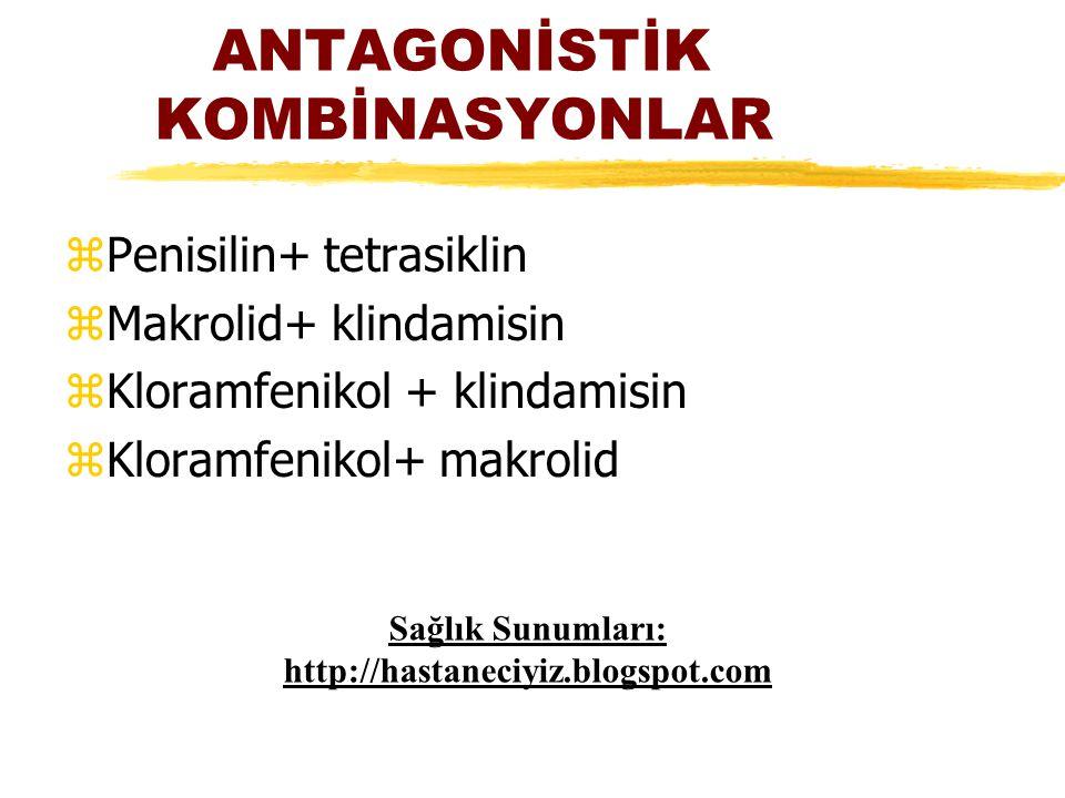 ANTAGONİSTİK KOMBİNASYONLAR