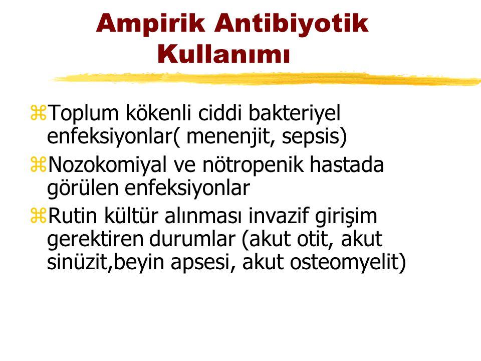 Ampirik Antibiyotik Kullanımı