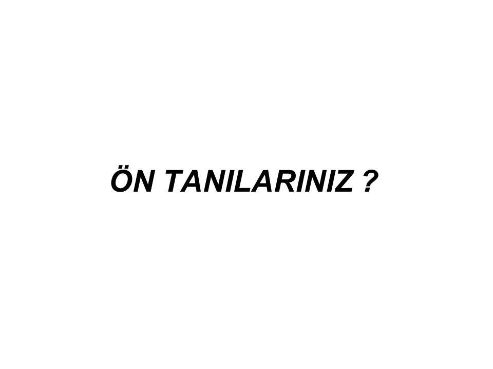 ÖN TANILARINIZ