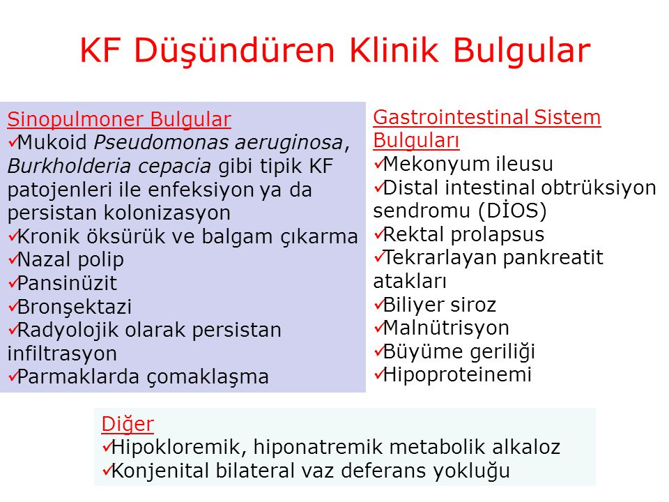 KF Düşündüren Klinik Bulgular