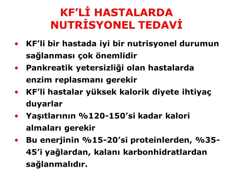 KF'Lİ HASTALARDA NUTRİSYONEL TEDAVİ
