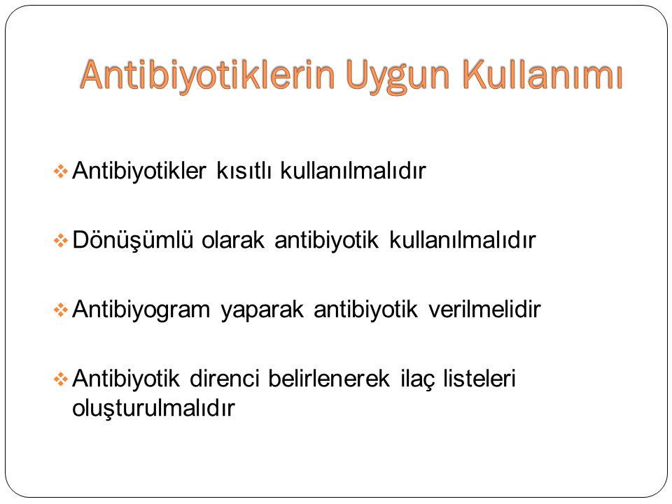 Antibiyotiklerin Uygun Kullanımı