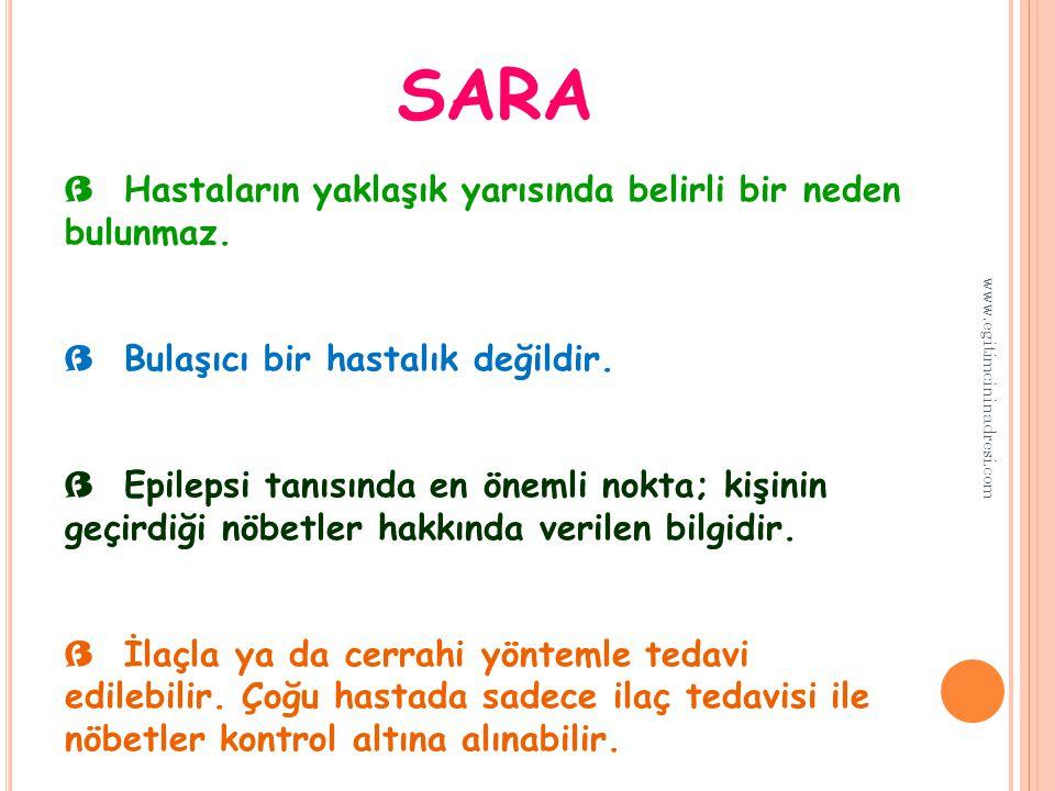 SARA Hastaların yaklaşık yarısında belirli bir neden bulunmaz.