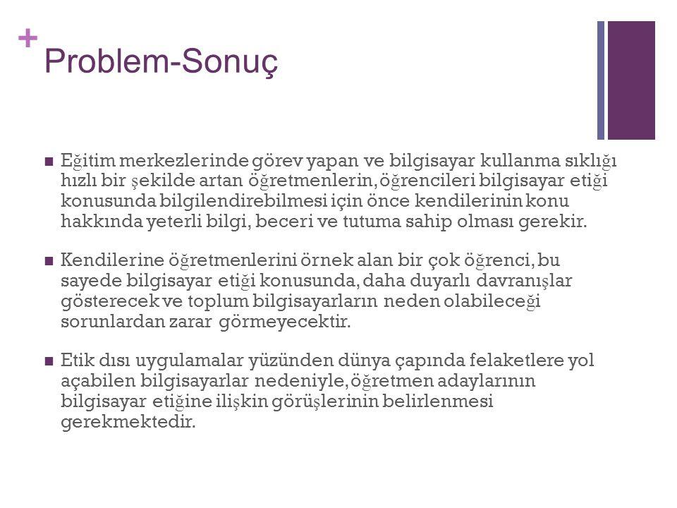 Problem-Sonuç