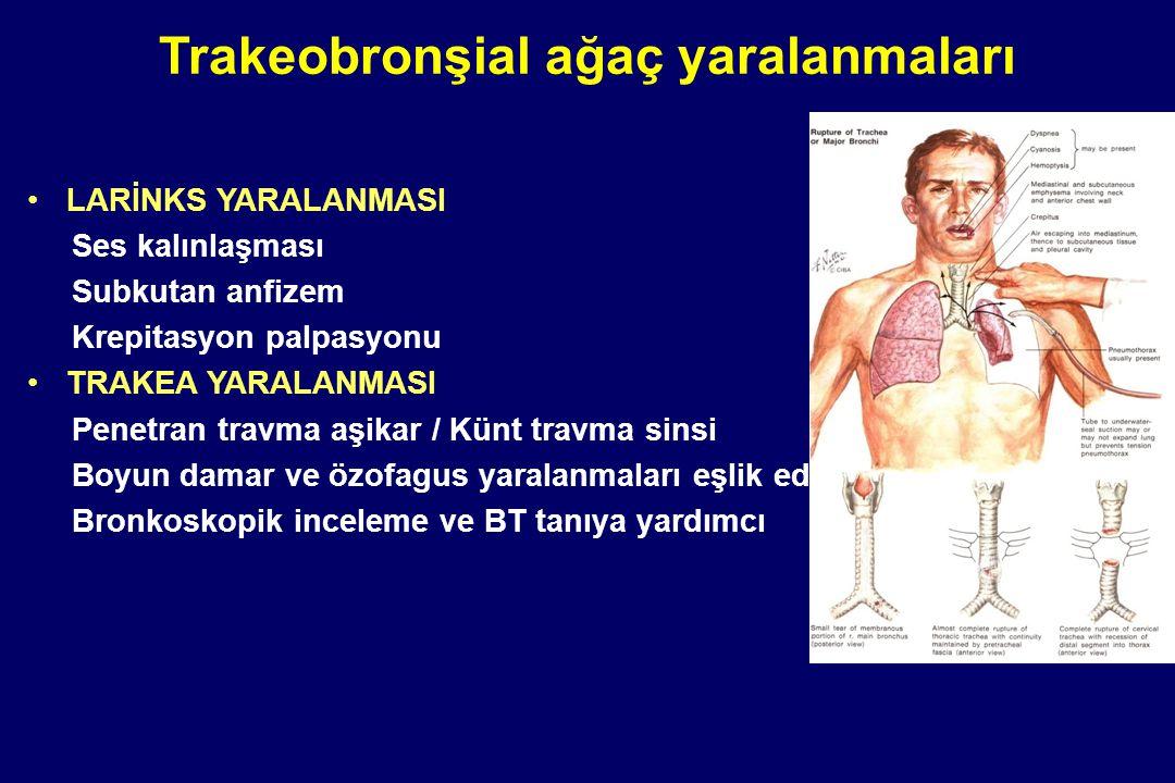 Trakeobronşial ağaç yaralanmaları