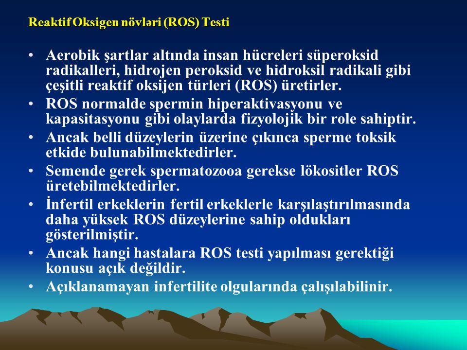 Reaktif Oksigen növləri (ROS) Testi