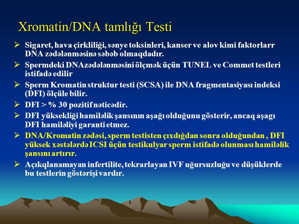 Xromatin/DNA tamlığı Testi
