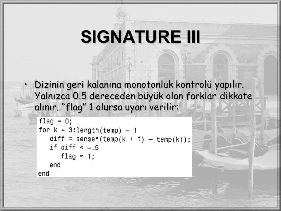 SIGNATURE III