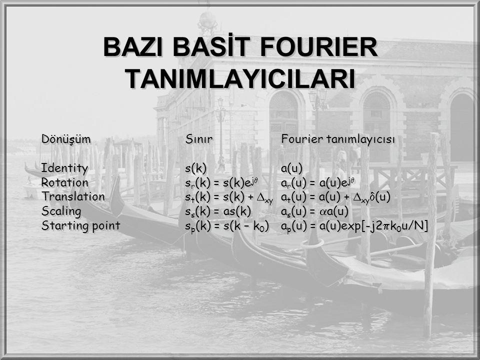 BAZI BASİT FOURIER TANIMLAYICILARI