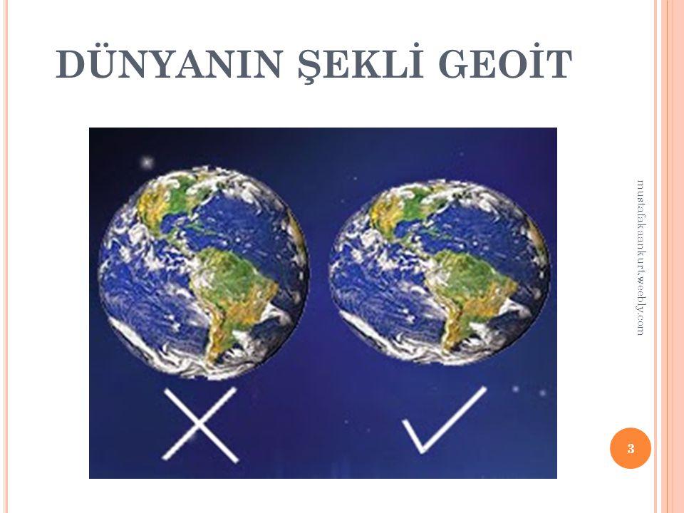 DÜNYANIN ŞEKLİ GEOİT mustafakaankurt.weebly.com