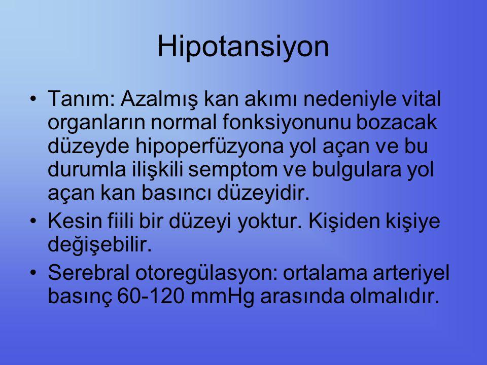 Hipotansiyon