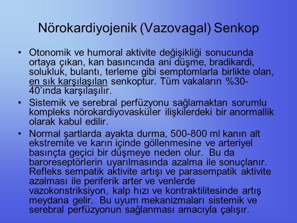 Nörokardiyojenik (Vazovagal) Senkop