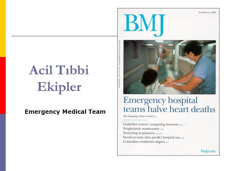 Acil Tıbbi Ekipler Emergency Medical Team
