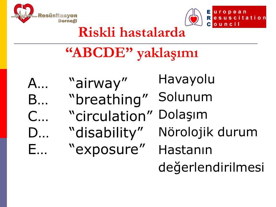 Riskli hastalarda ABCDE yaklaşımı