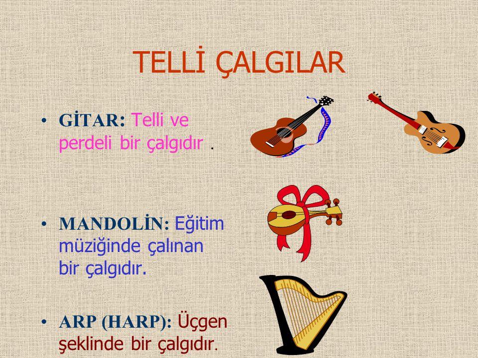TELLİ ÇALGILAR GİTAR: Telli ve perdeli bir çalgıdır .