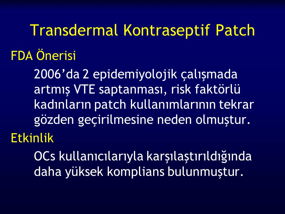 Transdermal Kontraseptif Patch