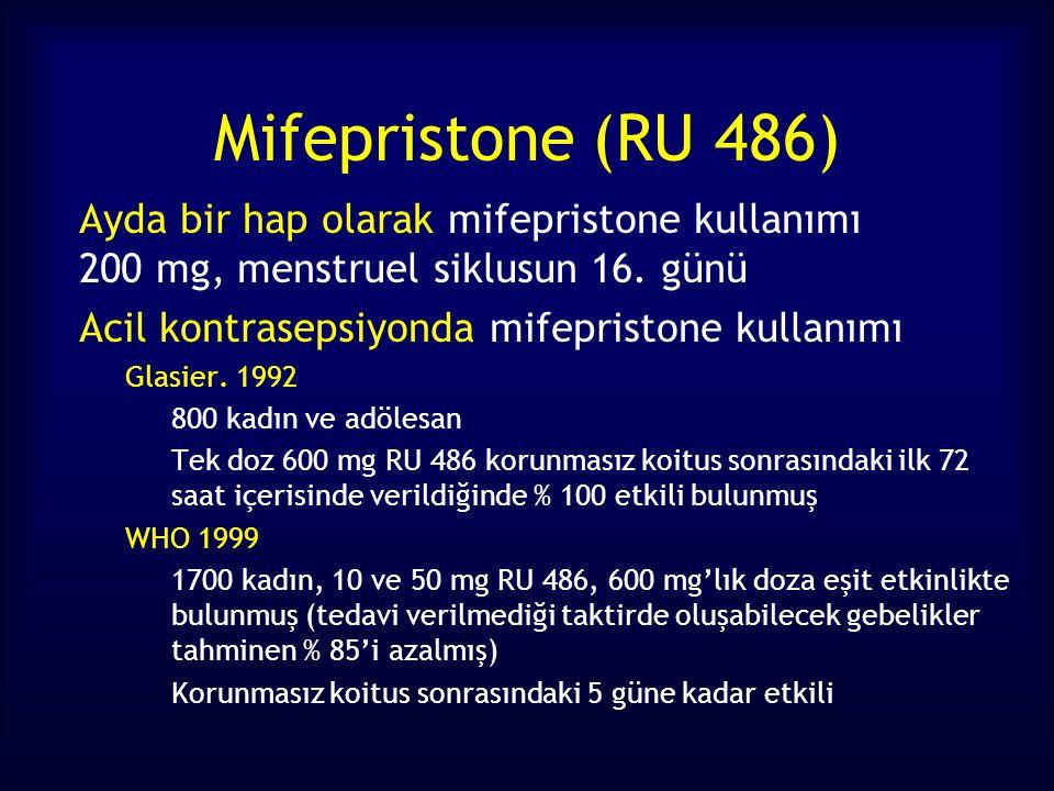 Mifepristone (RU 486) Acil kontrasepsiyonda mifepristone kullanımı