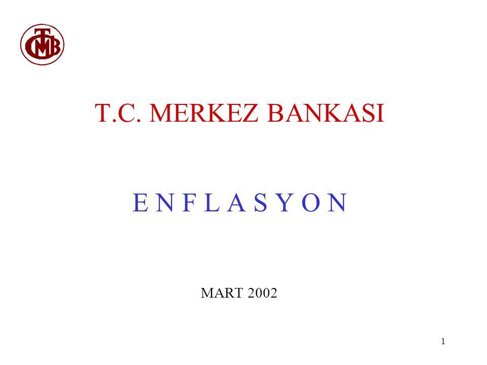 T.C. MERKEZ BANKASI E N F L A S Y O N MART 2002
