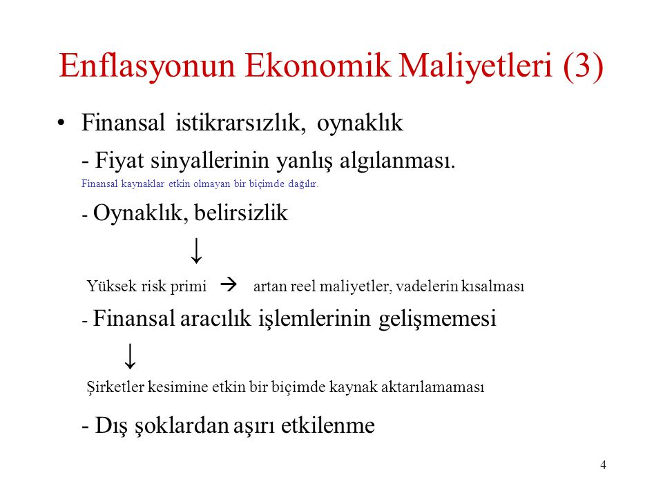 Enflasyonun Ekonomik Maliyetleri (3)