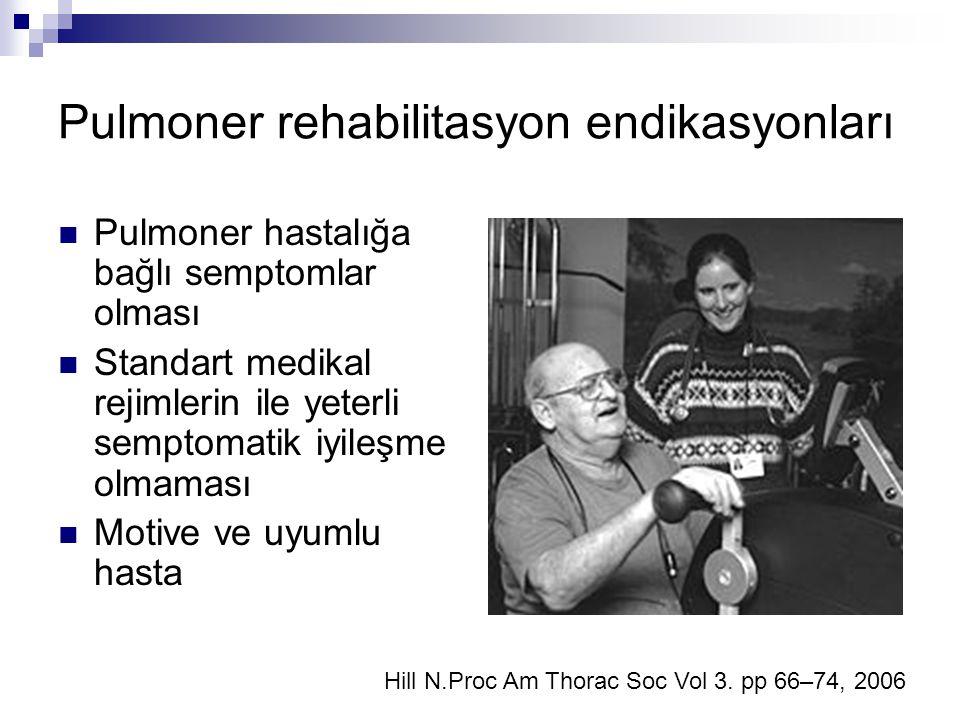 Pulmoner rehabilitasyon endikasyonları