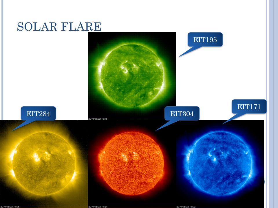 SOLAR FLARE EIT195 EIT171 EIT284 EIT304