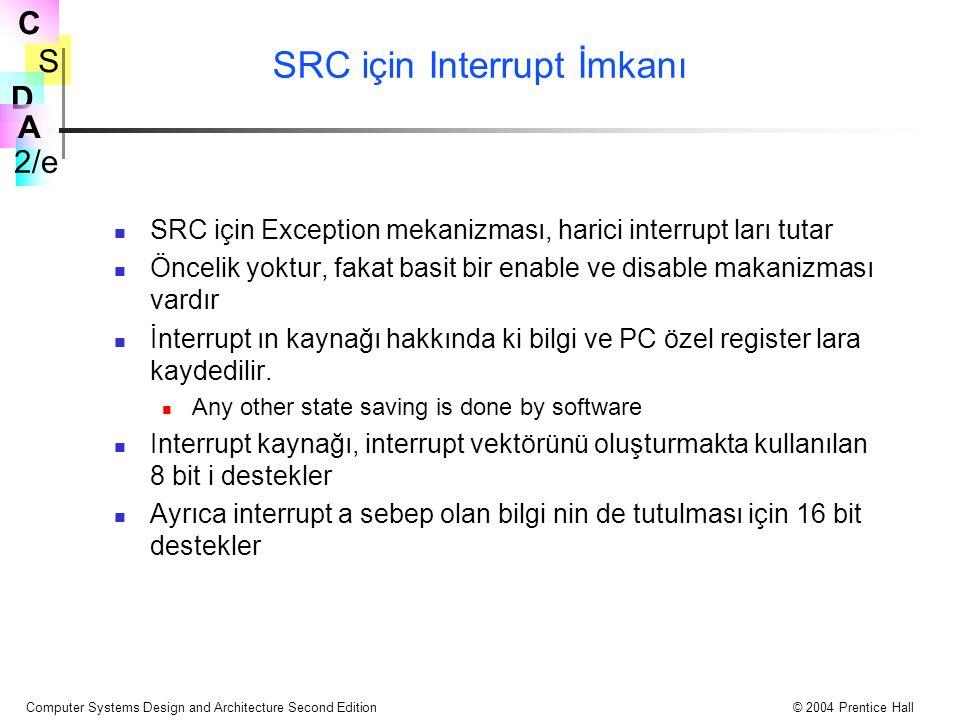 SRC için Interrupt İmkanı
