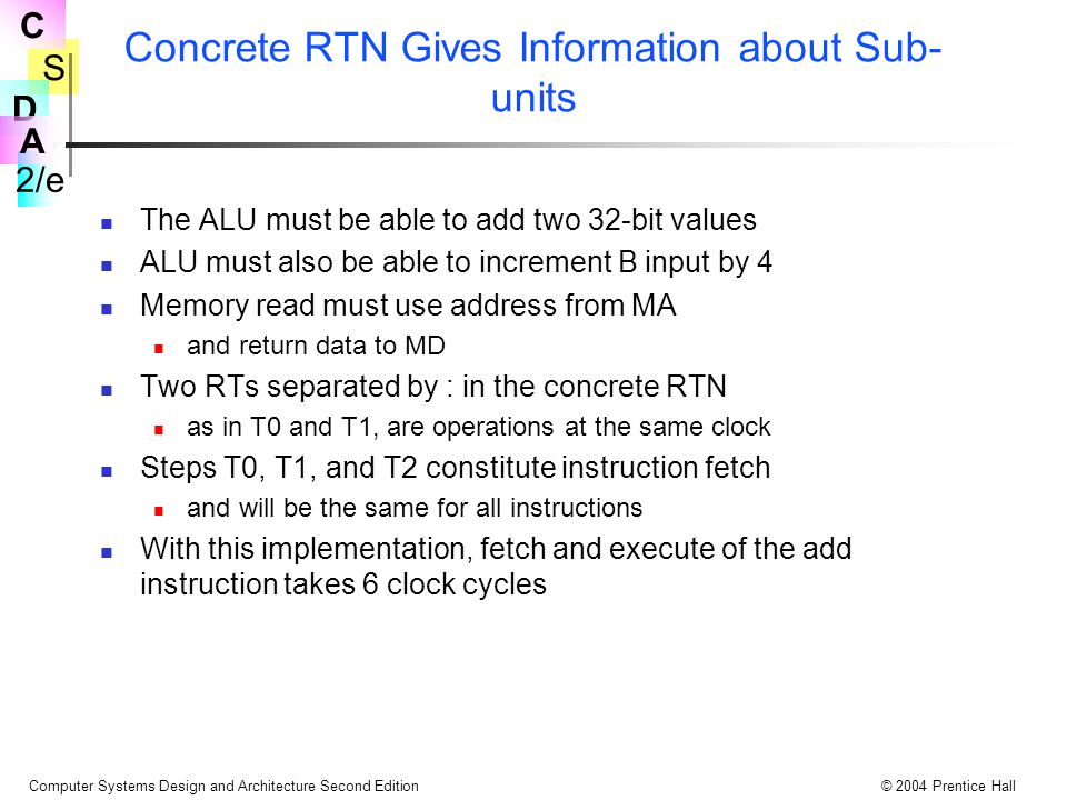 Concrete RTN Gives Information about Sub-units